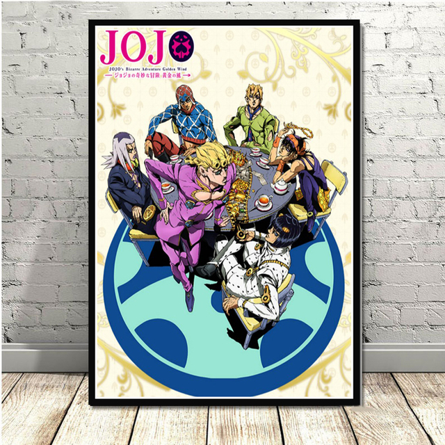 Poster And Prints JoJo s Bizarre Adventure Action Japan Anime Wall Art Paintings Canvas Wall Pictures For Living Room Home Decor 4