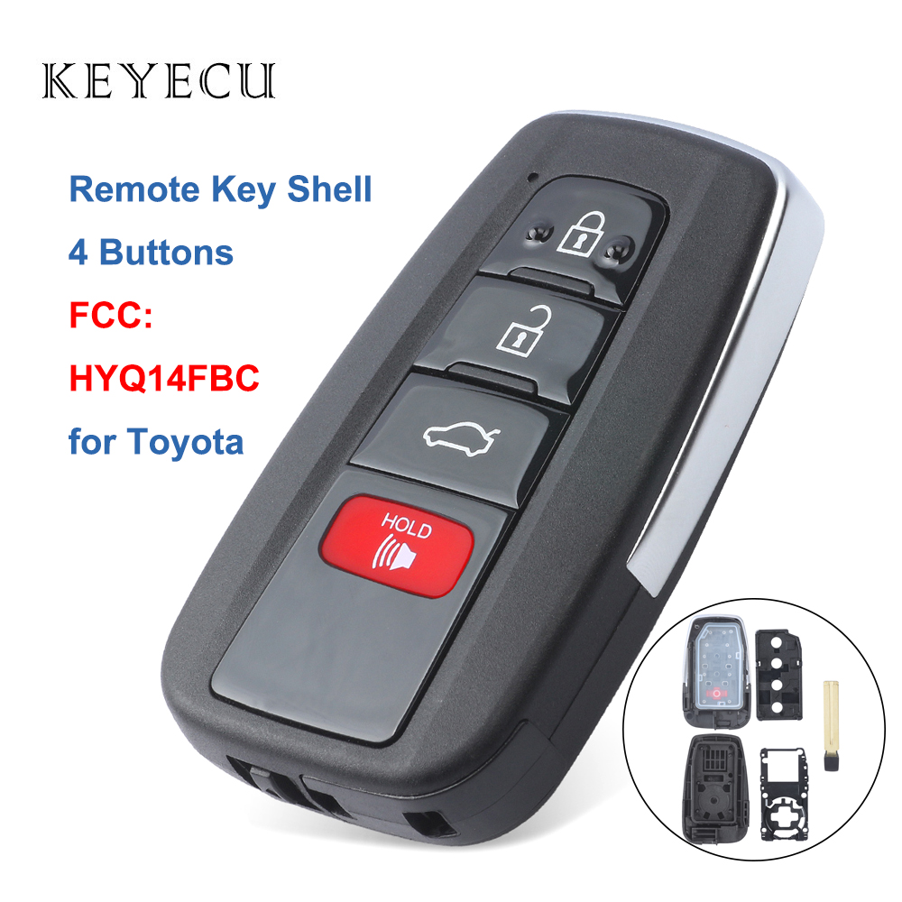 Toyota Prius RAV4 2 Button Remote Key Case With Blade Cut to your locks!