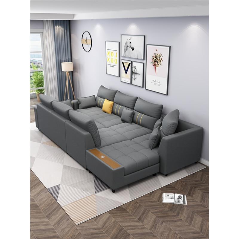 modern design corner customized fabric living room sofas 5
