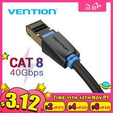 Vención de La Cat8 Cable Ethernet RJ45 SSTP parche Cable 40Gbps Lan RJ 45 Cable para ordenador portátil Router Modem PC Cat7 Cable de Ethernet