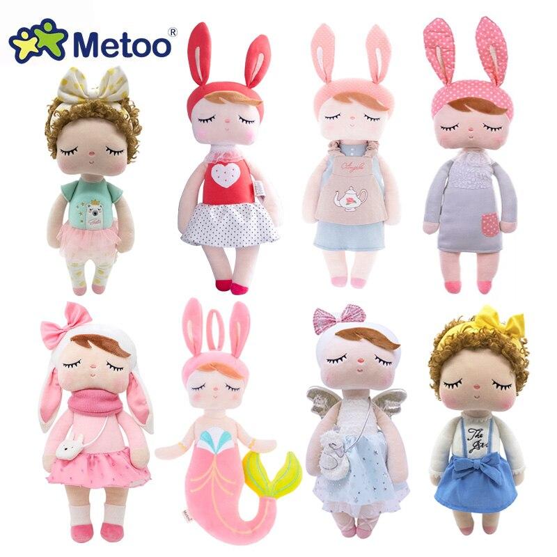 Metoo angela coelho veado ballet fruta sereia menina pelúcia animais brinquedos boneca para crianças apaziguar bebê aniversário presente de natal