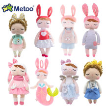 Metoo Angela lapin cerf ballet fruits sirène fille en peluche animaux jouets poupée pour enfants apaiser bébé anniversaire cadeau de noël