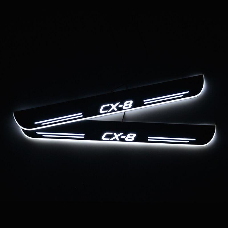 Seuil de porte LED pour Mazda CX-8 CX8 KG 2017 CX-9 CX9 TB 2017 TC 2016 seuil de plaque de porte