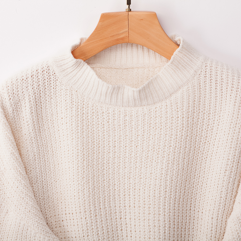 Crop Top Turtleneck Pullovers Pink Winter Women Sweater Loose Sexy Clothes Bat Sleeve Knit Sweater Sueter Mujer Invierno in Pullovers from Women 39 s Clothing