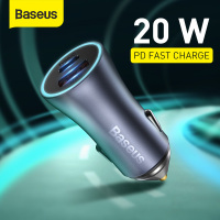 Baseus 40W Car Charger Fast USB Charger for Mobile Phone Quick Charge 4.0 3.0 Type C PD Charger For iPhone 12 QC 4.0 3.0 Charger