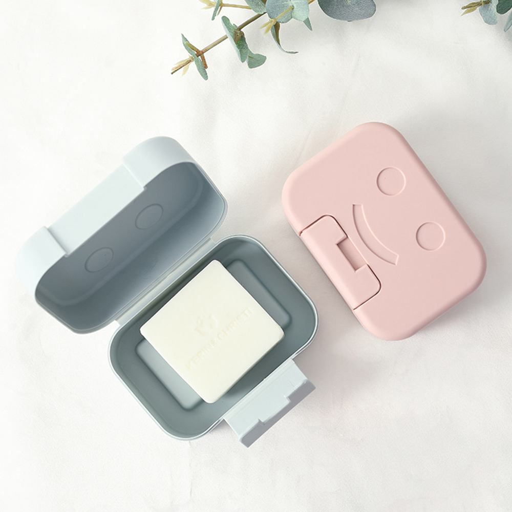 Potable Travel Soap Dish Boxes  With Leak-proof Lid Seal Plate Non-slip Case Soap Case Home Bathroom Organizer