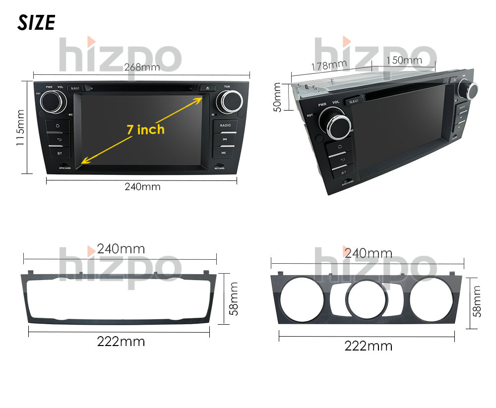 "Image 5 - Car multimedia player For BMW E90 E91 E92 E93 Stereo Head Unit 7"" Car DVD Player GPS Sat Nav Radio BT USB RDS AM/FM SWC DAB+DVBTCar Multimedia Player   -"