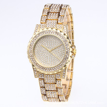 Cross Border Wish Hot Selling Starry Diamond Set Fashionable Watch Foreign Trade Women's Alloy Full of Crystals Steel Belt Quart