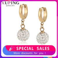 Xuping Neueste Hoop Ohrringe für Frauen Edelstahl Personalisierte Mode Schmuck Party Familie Geburtstag Geschenke S192-99723