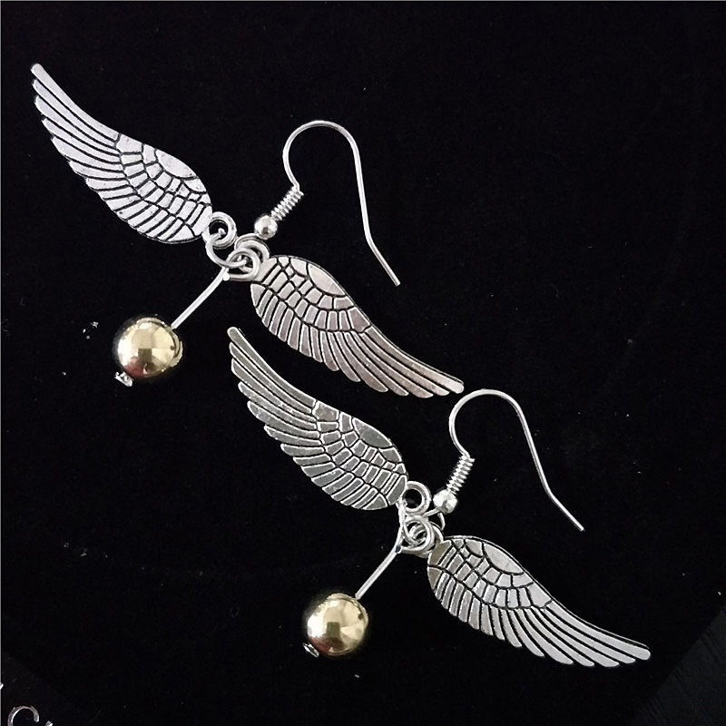 Children-Gifts-Harry-Style-Golden-Snitch-Earrings-Lady-Popular-Vintage-Style-Sweety-Angle-Wings-Earring-For