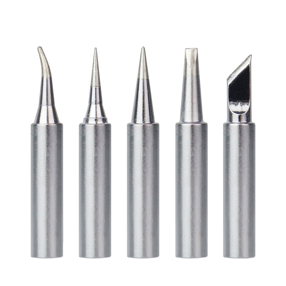 5pcs 900M T Series Pure Copper Soldering Iron Tip Lead free Welding Sting For Hakko 936/937/938/969/8586 Soldering Iron Station Electric Soldering Irons    - AliExpress