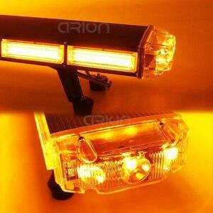 """Image 5 - 29 """" 63"""" COB led acil durum uyarı ışıkları kurtarma LightBar Wrecker yanıp sönen işaret ışığı çakarlı lamba çubuğu Amber"""