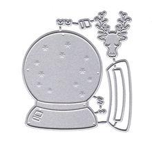 Олень Кристальные снежинки МЯЧ металлический прорезной трафарет для окраски DIY Скрапбукинг штамп для альбомов бумаги