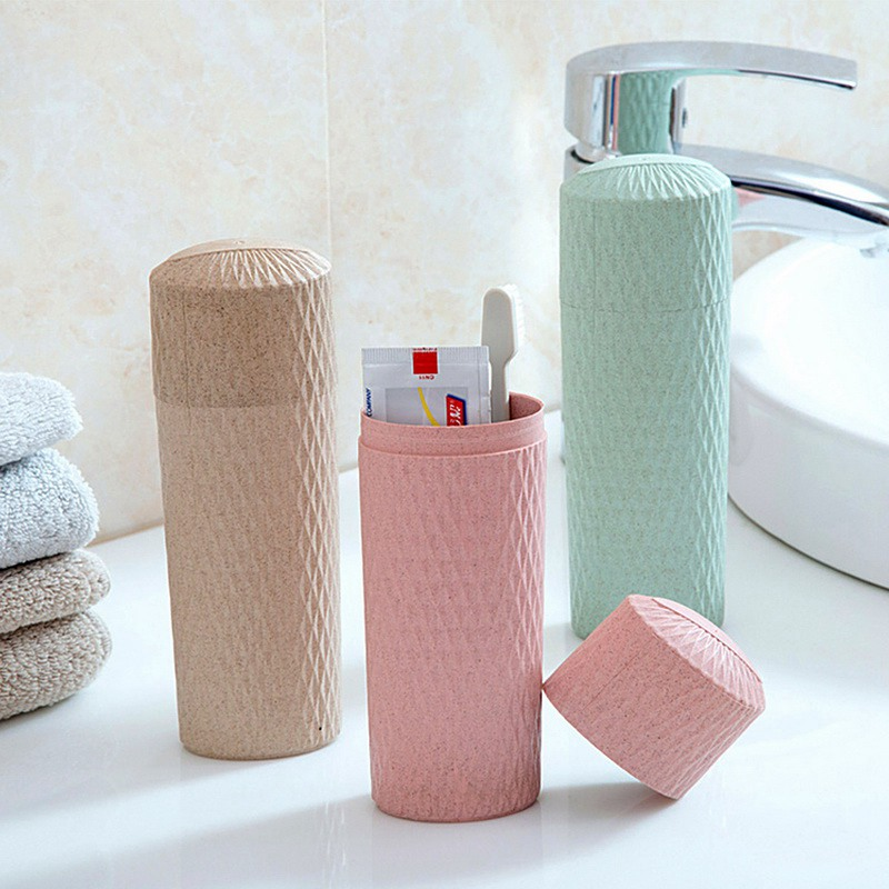 2019 Portable Toothbrush Case Travel Tooth Toothbrush Cover Hiking Camping Protect Storage Box Wash Cup Cosmetic  Case