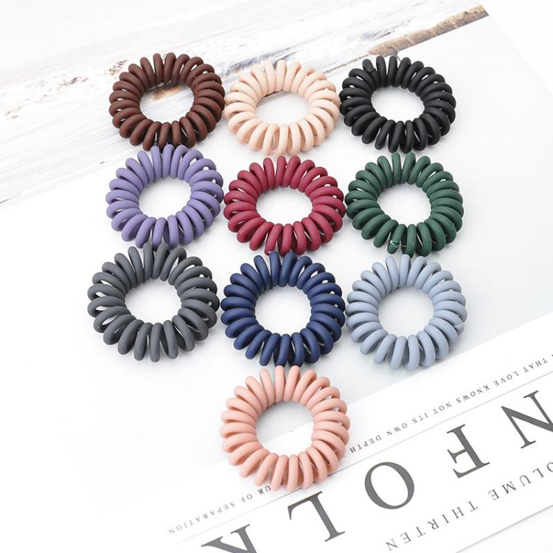 Lovely Phone Line Hair Ring Female Solid Resin Hair Rope Sweet Horsetail Elastic Rubber Band Girls Fashion Hair Accessories Hot