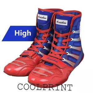 Мужские боксерские ботинки, золотистые Нескользящие боксерские ботинки, дышащие удобные боксерские ботинки, большие размеры 39-47, 2020