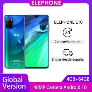 ELEPHONE E10 смартфон с 6,5-дюймовым дисплеем, восьмиядерным процессором, ОЗУ 4 Гб, ПЗУ 64 ГБ, 48MP Quad Camera Android 10, 4000 мАч
