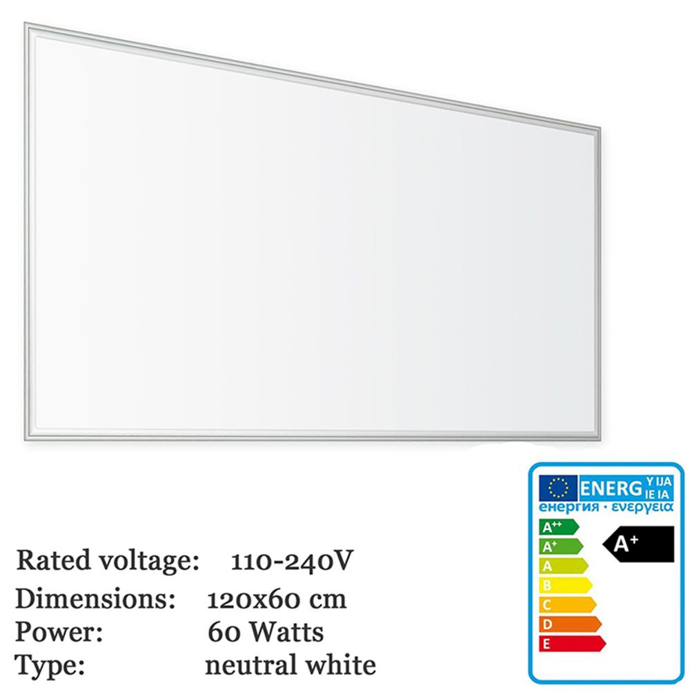 Thorx LED B <font><b>120x60</b></font> cm Ultraslim LED Panel - 60W, 5700lm led driver 100-240V, cool/warm/neutral white Japan, Korea fast shipping image