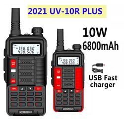 2 Stuks Baofeng Uv-10R Plus Twee Manier Radio Zender Cb Radio Auto Communicatie Apparatuur Walkie Talkie Long Range Professionele