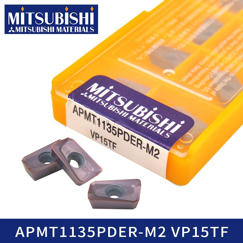 Mitsubishi APMT1135PDER-M2 VP15TF Carbride Inserts Cnc Lathe Cutter Milling Turning Tools Stainless APMT1135PDER-M2 APMT 1135