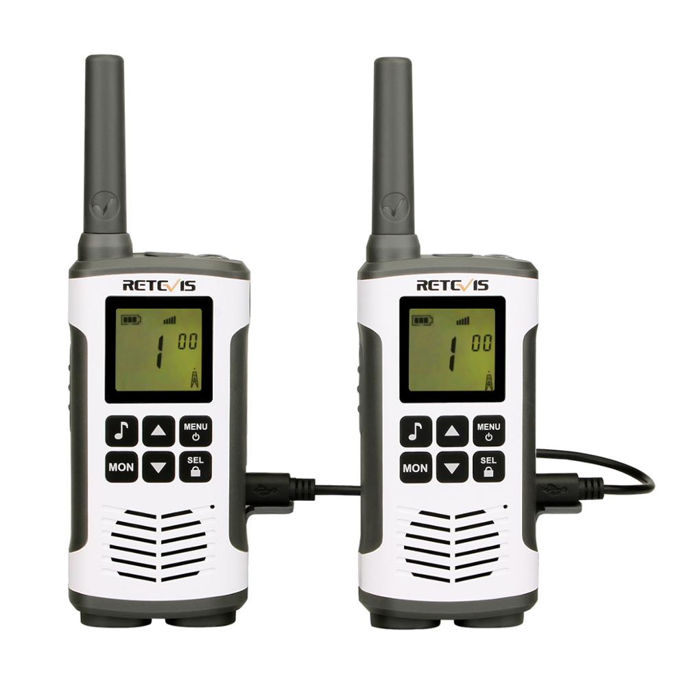 2pcs Retevis RT45 PMR446 Portable Two Way Radio Walkie Talkie 0.5W PMR 446MHz FRS VOX Rechargeable Battery For Motorola TLKR T50