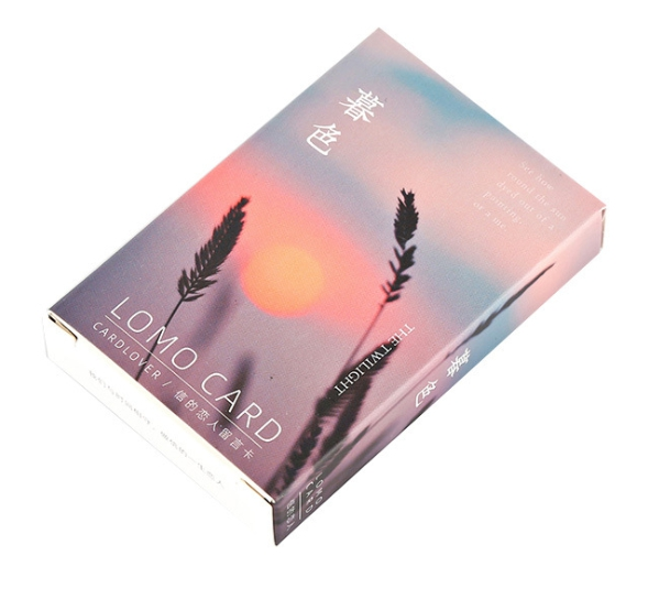 52mm*80mm Dark Sun Paper Greeting Card Lomo Card(1pack=28pieces)