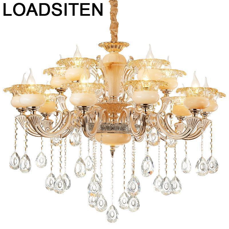 Voor Eetkamer Pendant Industrial Crystal Light Lampara De Techo Colgante Moderna Suspension Luminaire Suspendu Hanging Lamp