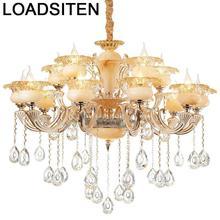 Voor Eetkamer Pendant Industrial Crystal Light Lampara De Techo Colgante Moderna Suspension Luminaire Suspendu Hanging Lamp