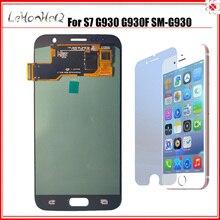 OLED samsung LCD galaxy S7 LCD ekran samsung için dijitalleştirici montajı S7 LCD ekran G930F G930 SM G930