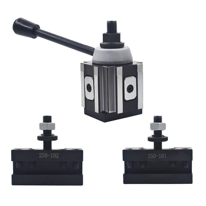 For AXA Piston Quick Change Tool Post And Tool Holder For Lathe 6-12 Inch 250-100 Set
