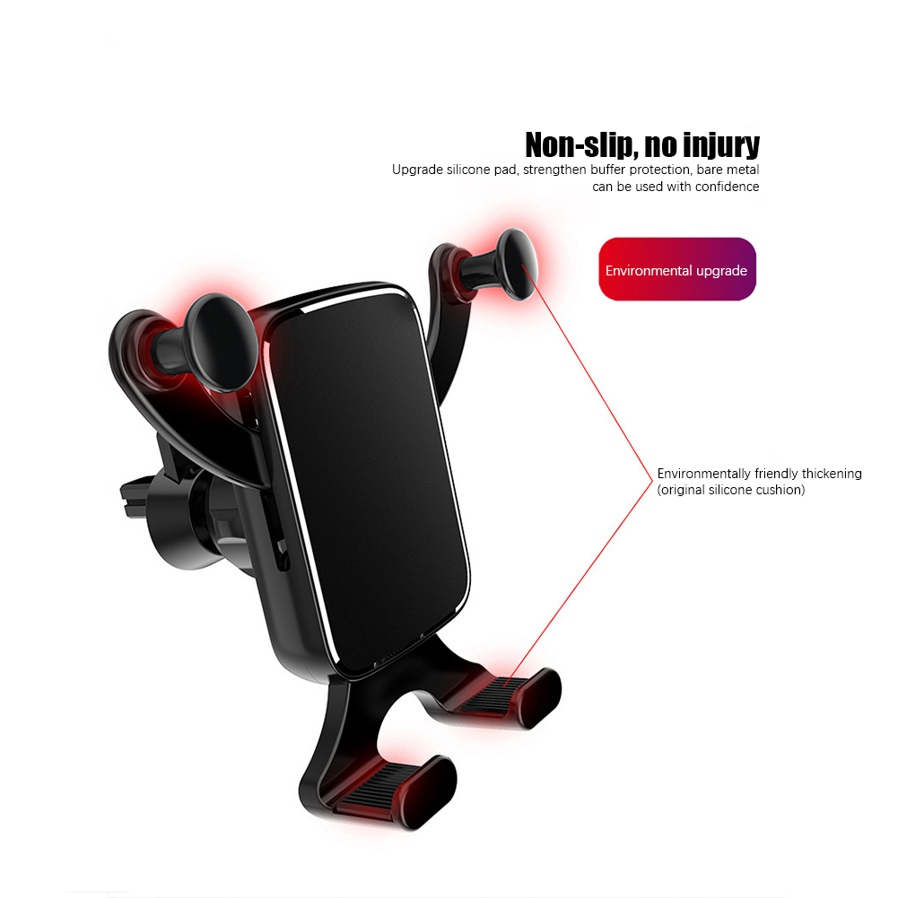 Universal Horizontal And Vertical Screen Car Phone Holder  Automatic Clamping Car Phone Bracket Car Outlet Gravity Bracket