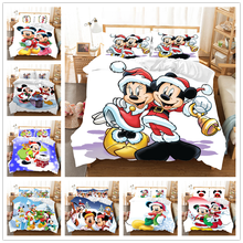 Disney Mickey Minnie Christmas Bedding Set Duvet Cover Queen King Size Children Gift Nightmare Before