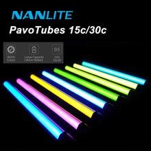 NANLITE NanGuang LED Tube Light RGB Color Light Pavotube 15C/30C 77cm 117cm 2700K 6500K Handheld light For YouTube Photography
