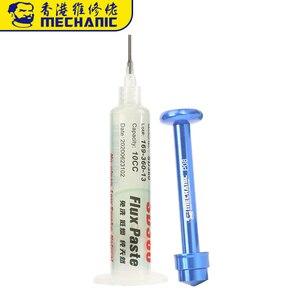 Mechanic 10CC Soldering Paste Flux PCB BGA SMD SMT No-clean Transparent Welding Flux Solder Paste With Booster