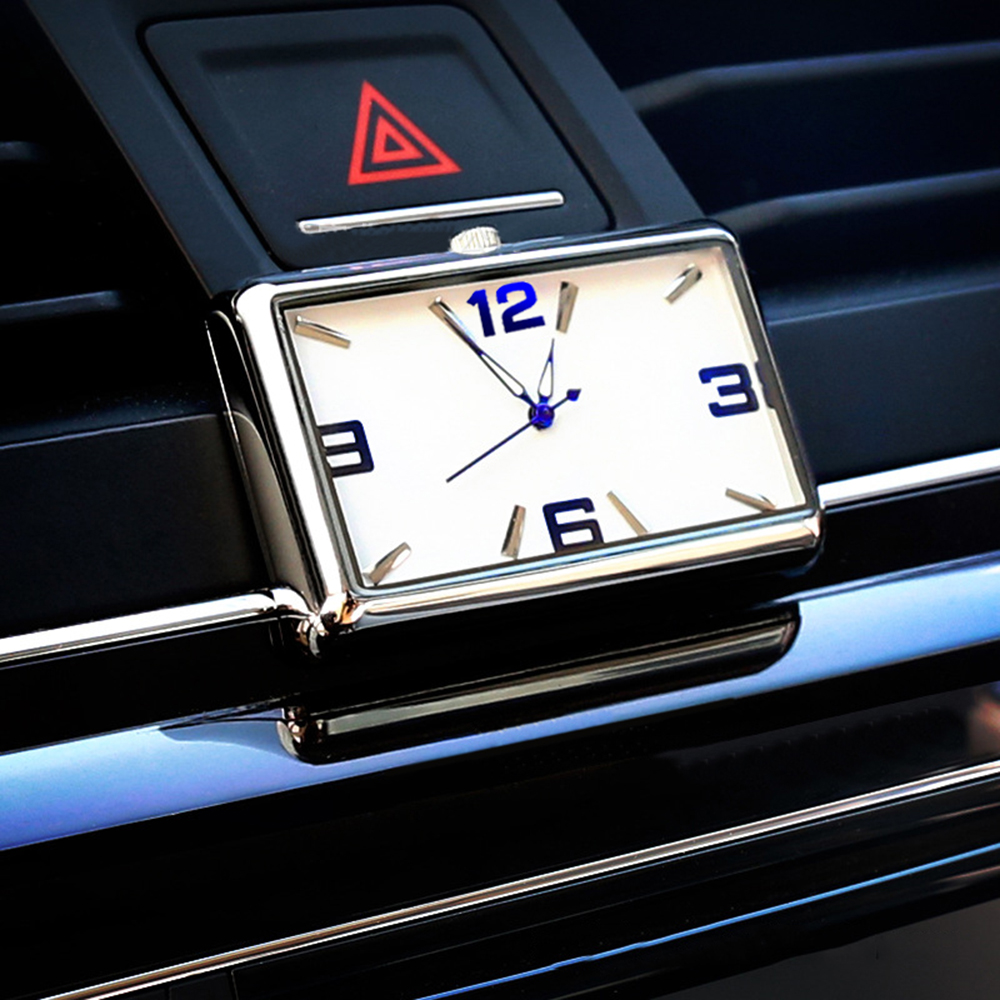 Car Clock Quartz Automobiles Interior Stick-On Watch High Grade Auto Vehicle Dashboard Time Display Clock In Car Accessories