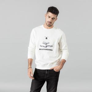 Image 1 - SIMWOOD 2020 bahar kış yeni nakış polar ayı hoodies erkekler nedensel o boyun joggers SI980708