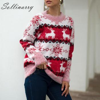 Jerseys de otoño con estampado de Sollinarry para mujer, ropa de invierno para mujer, 2019