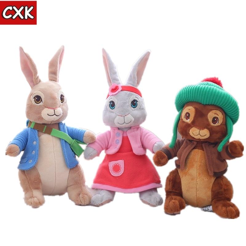 Anime Plush Peter Rabbit Plush Toy Cute Girl Stuffed Peter Rabbit Animal Doll Birthday Children's Day Gift 20cm 30cm 46cm