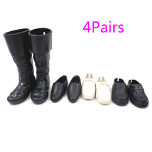 1/3/4Pairs Dress Up For Friend Dolls Cusp Shoes Sneakers Knee High Boots For Boyfriend Ken Clothes Accessories(China)