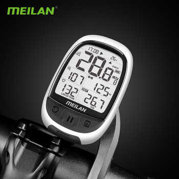 Bike gps Computer Bluetooth ANT+ cycling computer Meilan M2 support connect with cadence heart rate power meter(not include)