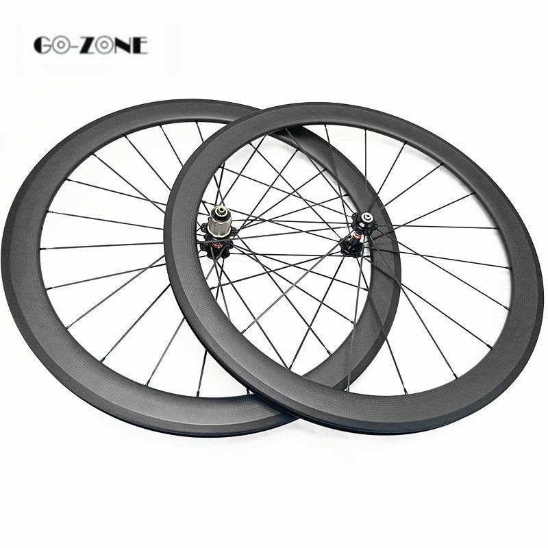 700c carbon road wheels 50x23mm Clincher or Tubular bike wheelset novatec A271SB F372SB 100x9 130x9 roue carbone pour velo route(China)