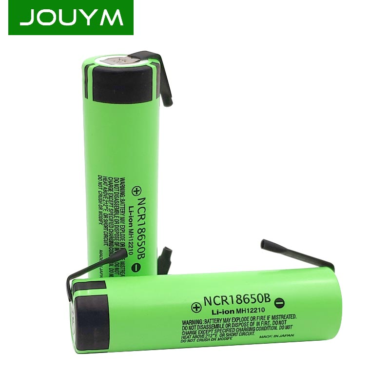 JOUYM Original 18650 NCR18650B 3.7 V 3400mah Li-ion Rechargeable Battery Welding Nickel Sheet DIY Battery Pack 18650 Cells