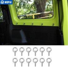 MOPAI Innen Moulding für Suzuki Jimny 2019 + Auto Runde Loch Schraube Dekoration Abdeckung Zubehör für Suzuki Jimny 2019 +