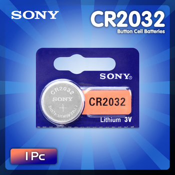 1PC SONY CR2032 battery 3V Lithium Batteries BR2032 DL2032 ECR2032 CR 2032 Button Coin Battery For Watch Calculator image