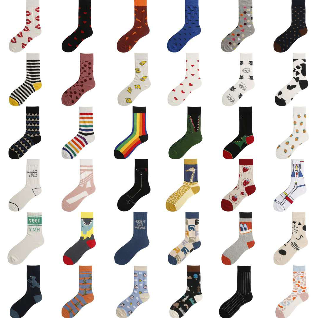 Harajuku Fashion Hip Hop Cotton Socks European And American Street Personality Versatile Men Funny Socks Women Pure Long Socks