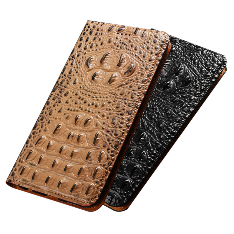 Crocodile Texture Genuine Leather Holster Case For Google Pixel 4 XL/Google Pixel 4 Phone Bag Card Slot Holder Magnetic Funda