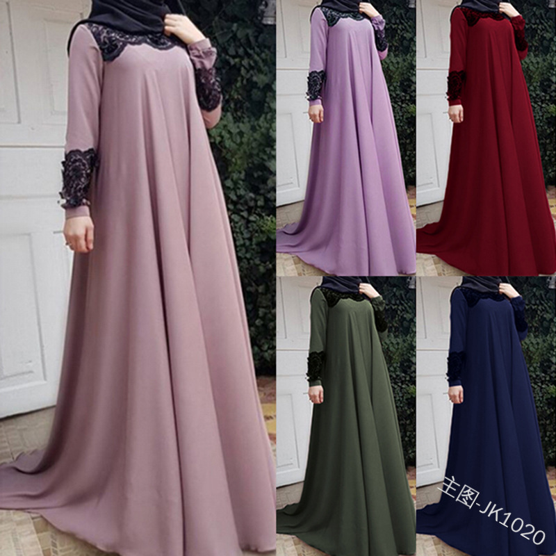 Elegant Muslim Lace Abaya Full Dress Maxi Evening Vestidos Cardigan Kimono Long Robe Gowns Jubah Middle East Eid Ramadan Islamic