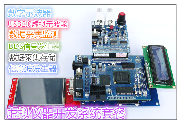 High-speed ADDA Data Acquisition FPGA Control USB2.0 Virtual Instrument Development Board V2.0