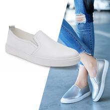Damskie mokasyny na co dzień prawdziwej skóry slip-on płaskie baletki kobieta wygodne białe buty pielęgniarskie buty do chodzenia dla kobiet 6688 tanie tanio dazhualong Skóra bydlęca RUBBER Pasuje prawda na wymiar weź swój normalny rozmiar Szycia Wiosna jesień Stałe Dla dorosłych