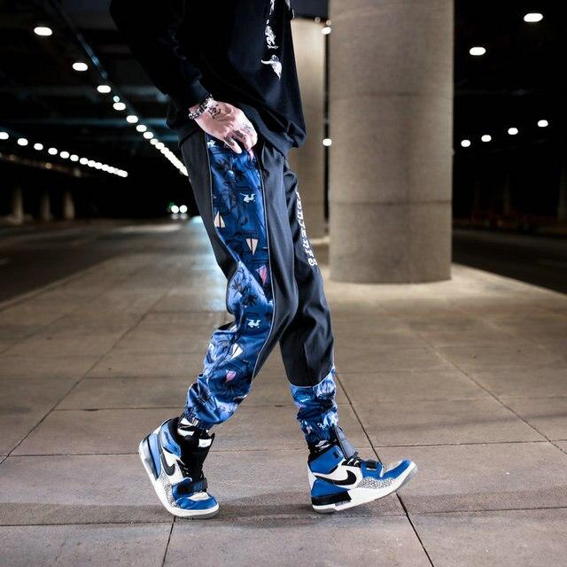 Streetwear hip hop calças militares dos homens retalhos bolso lado 2021 novo solto joggers sweatpants homens tornozelo comprimento calças para o sexo masculino 6